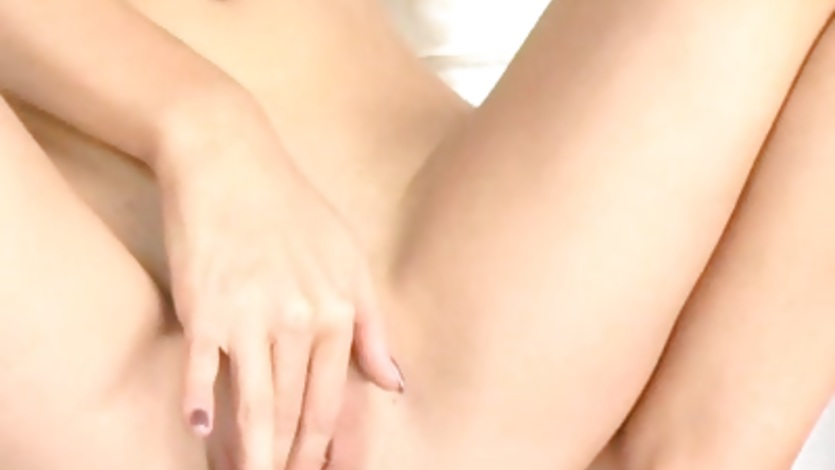 Horny slut Crystal Klein spreads her legs and fingers her wet cunt