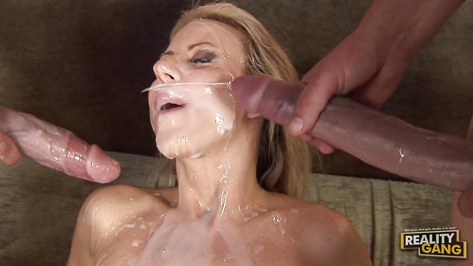 Nude gallery Handjob on face
