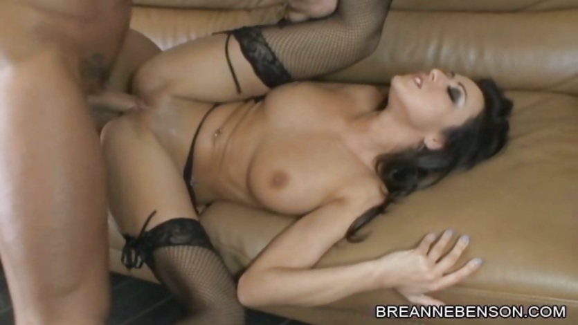 Breanne Benson let a hard dick come in her wet pussy