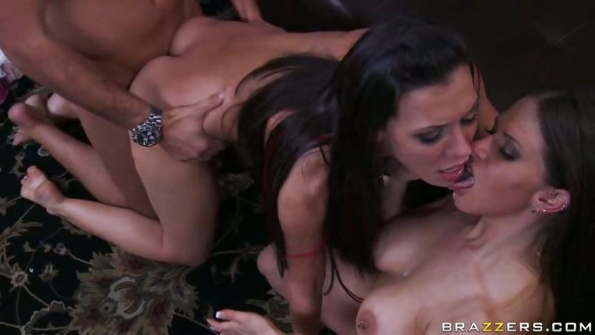 Rachel Roxx and Rachel Starr get split seed on face