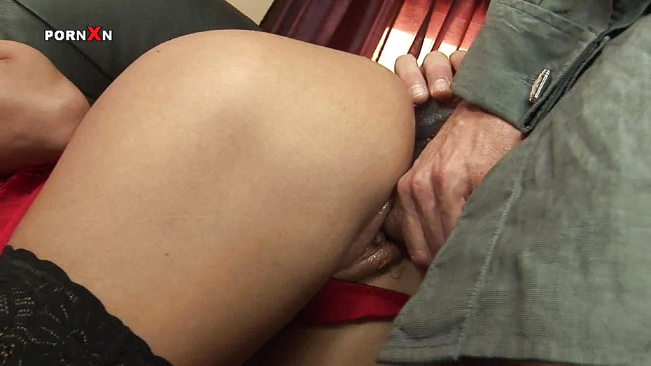 image Fisting his girlfriends greedy gaping ass hole