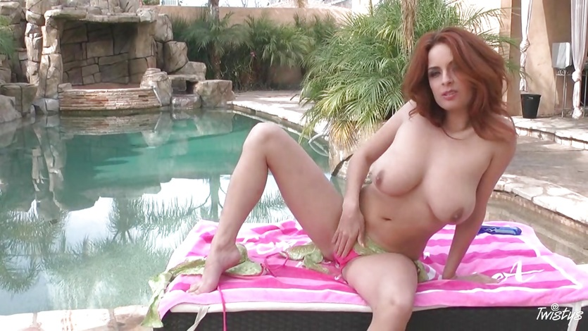 Blistering babe torments her dripping wet pussy hole