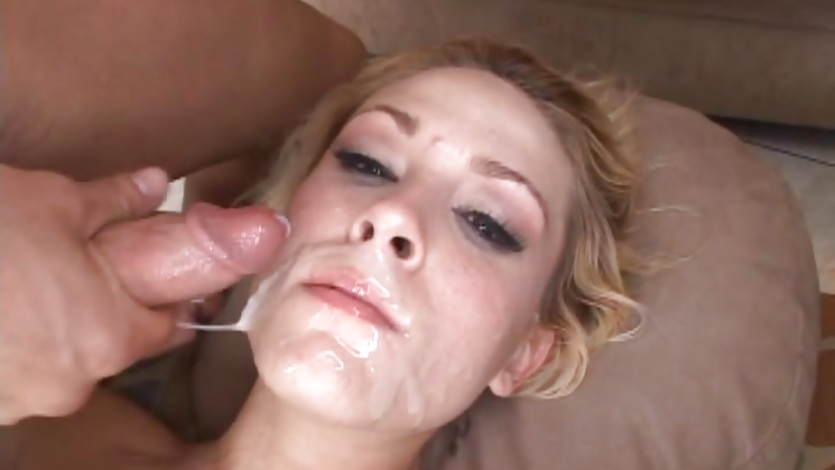 Awesome Brittany Angel gets covered in dick cream