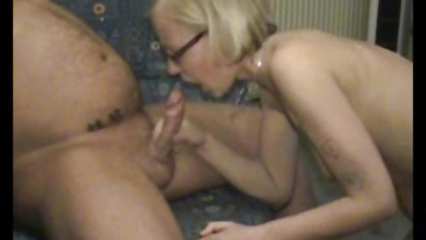 Sexy blonde ex girlfriend home fucking with cumshot