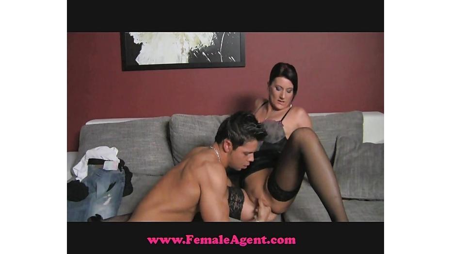 Femaleagent milf exploits shy guy in casting 8