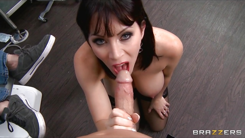 Busty dental assistant is fucked hard amp deep until she cums 1