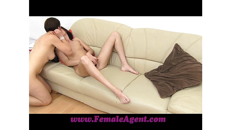 image Femaleagent amazing casting ends with studs spunk over her