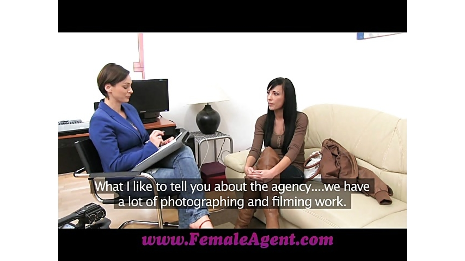 image Femaleagent sexy beauty licking for work in sensual porn