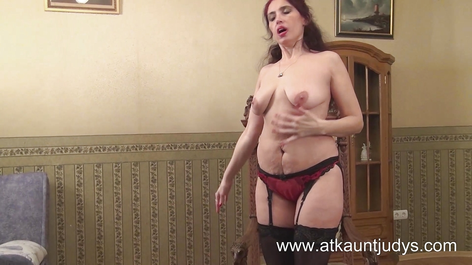 50yearold milf karolina strips out her gypsy flowing cloth 3