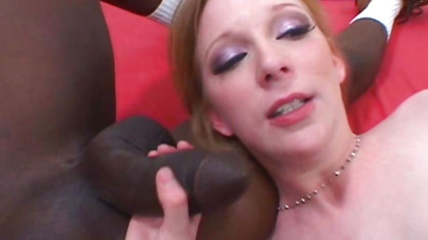 Two big black dicks swamp Alexa Lynn