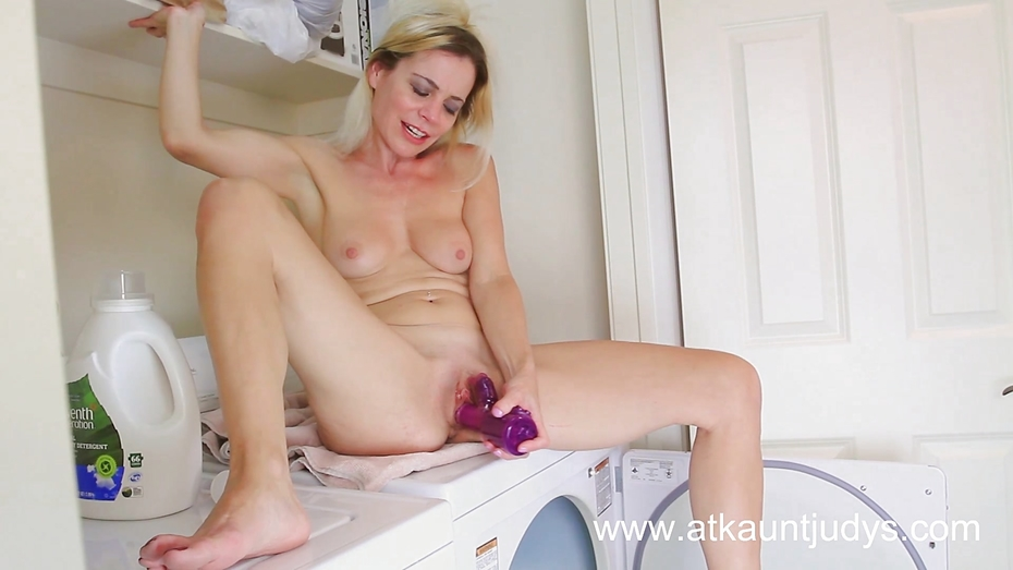 image Kinky solo chick shoves dildo in ass