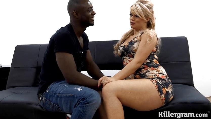 Full bodied blonde gets black cocked porntube