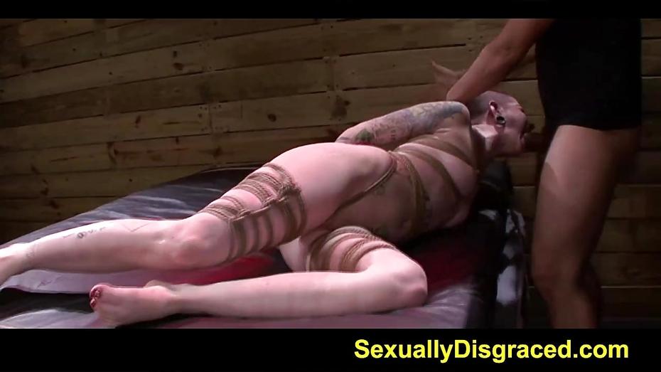 Neck collared slave velma dearmond fucked hard by a big cock 4