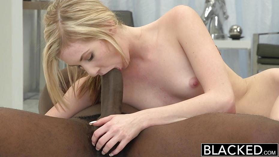 Blond Takes Black Dicks