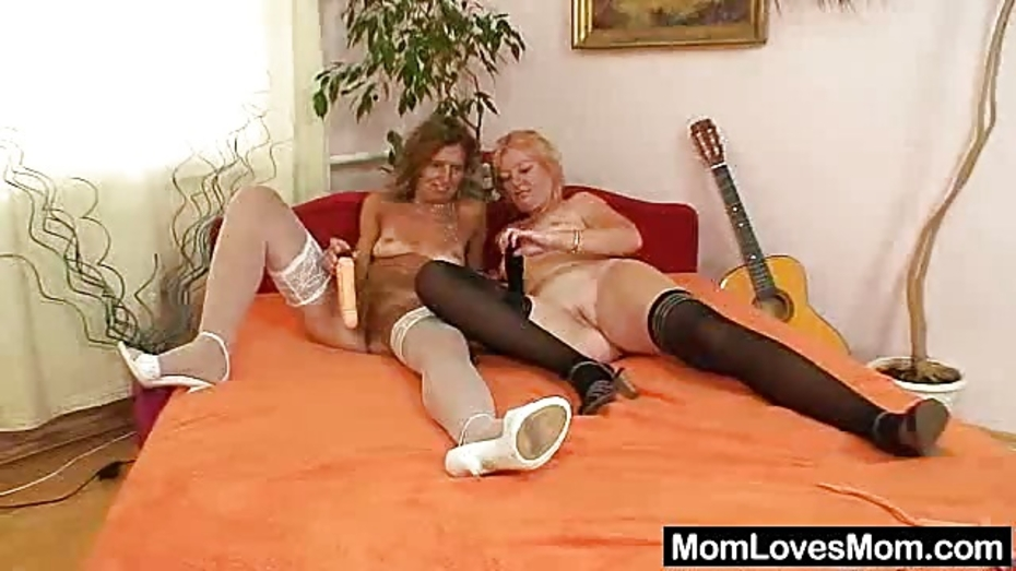 Woolly milf gets toyed by untidy blondhaired mama 7