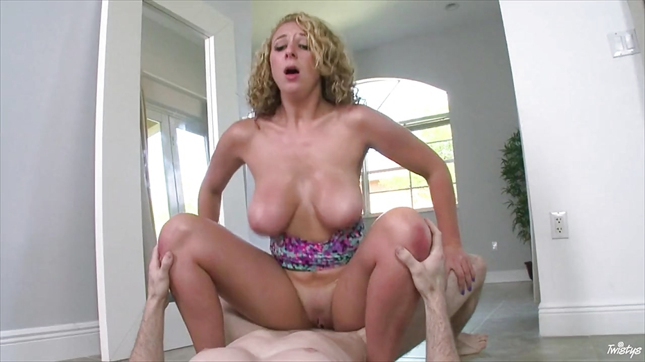 Curly haired Brooke Wylde rides a big fat cock | PornTube ®