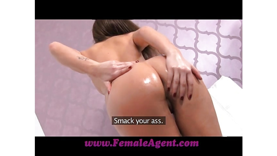 image Femaleagent oiled up sexy agent gets fucked