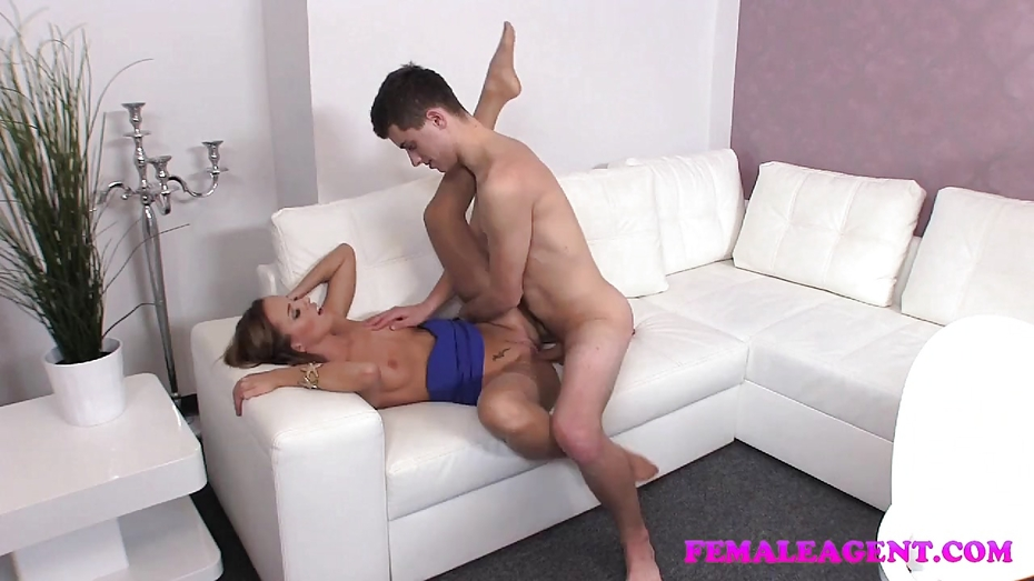 Femaleagent busty agent seduces shy beauty in steamy lesbian casting 2