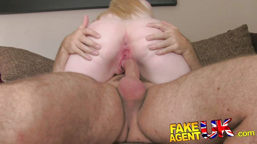 Fakeagentuk busty blue eyed scottish chick gets creampie in fake casting 4