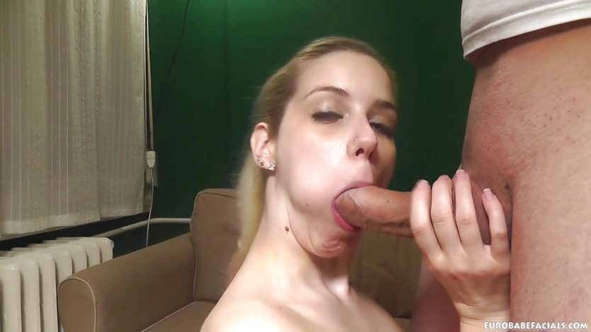 Gorgeous blonde works a big dick in pov