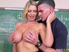 Big Tits At School Teaching Miss Darby a Hard Lesson at