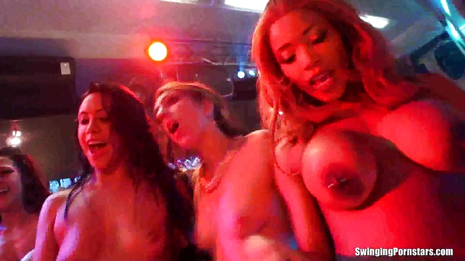 Wet bitches dancing erotically in a club 7