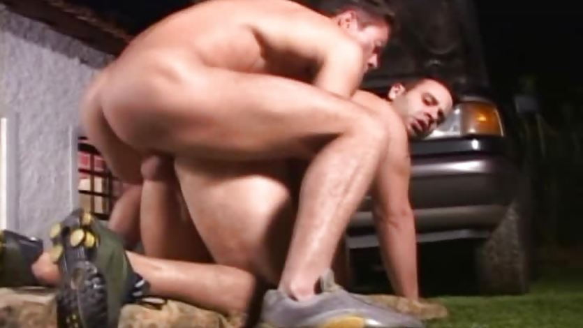 Hot Beefy friends Anal Fuck in the Garage