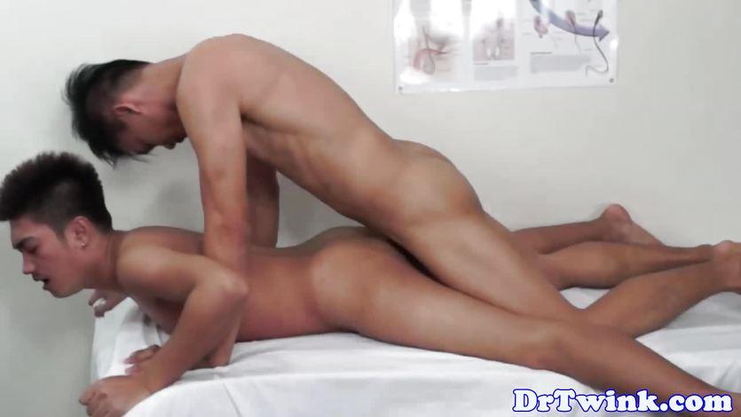Enemafetish doctor bareback pounds squirting asshole