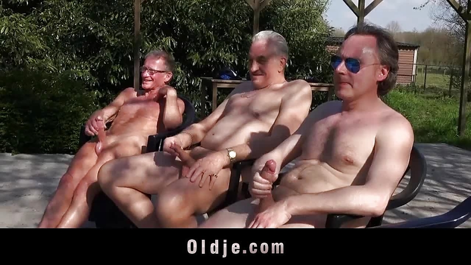 6 mad oldmen gangbangs wild one tight young pussy 7