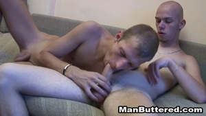 Passionate gays fuck till sweating