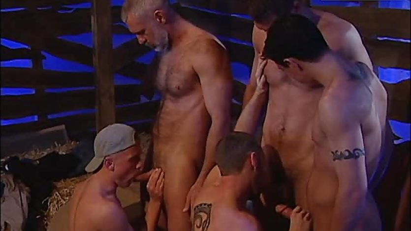 Gay Orgy Sex In The Barn