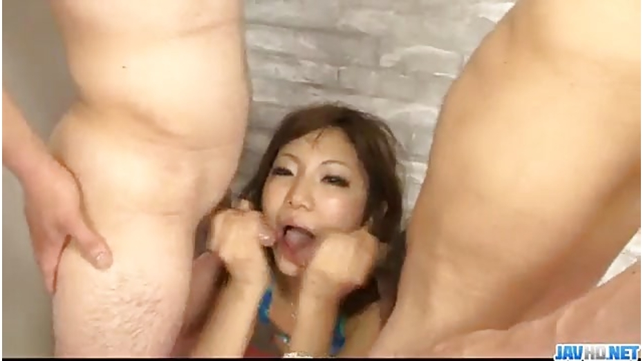 Petite hana endures extra large cock to bang her holes 3