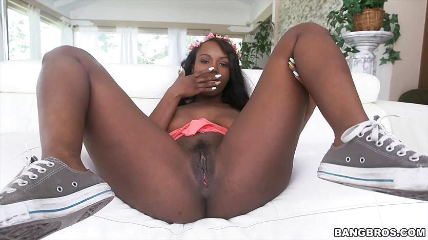 Hot Black Girl Loves White Cock