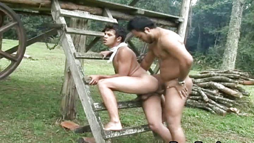 Wild Barebacking Latino Gay Fucking Hardcore