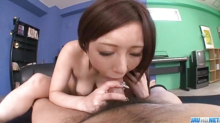 Ai sakura tries cock in each of her shaved holes 9