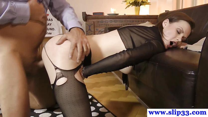 порно видео девушка в юбке и колготках большая пизда