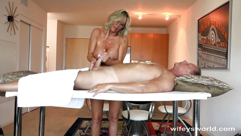 Milf gives massage