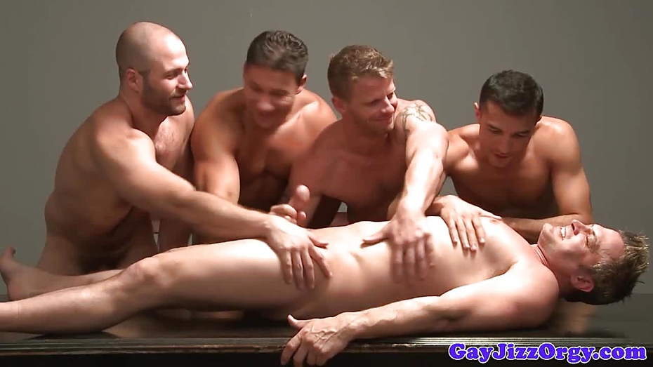 Muscle Cumcovered In Group After Analfucking