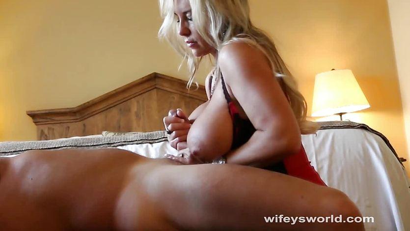 34f breasts pov busty handjob by smoking milf 7