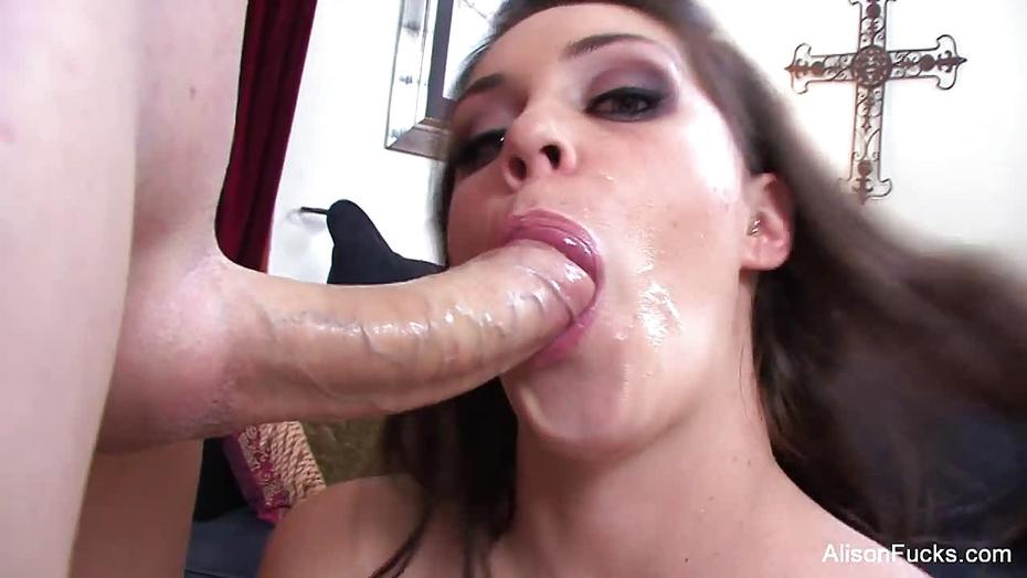 Horny alison sucks some cock pov style 9