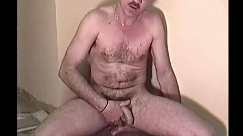 Amateur Mature Man Mike Jacks Off and Cums