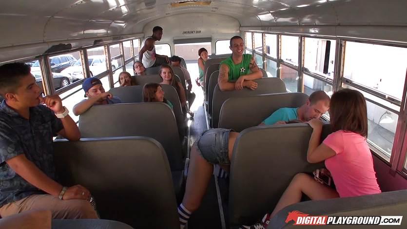 School bus porno sex videos