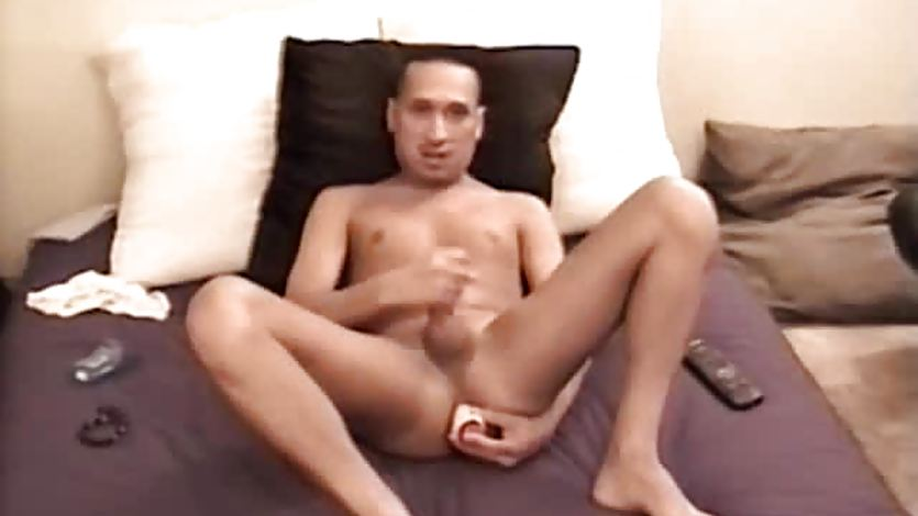 Latin Amateur Angelo Stroking His Cock