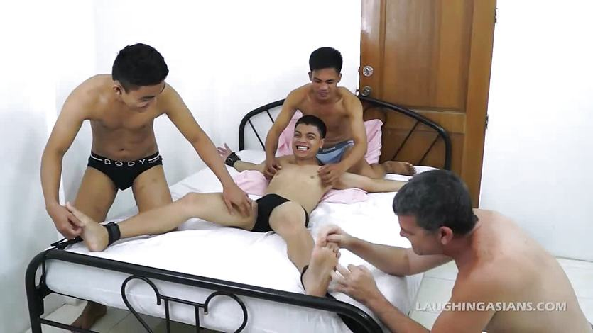 Daddy Mike Tickles Asian Boy Vahn