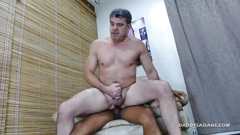 Daddy and Asian Boy Josh Bareback