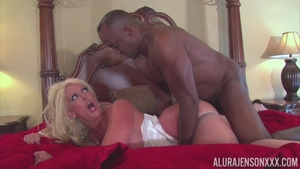 Alura Jenson Gets Her Beautiful Mouth Stuffed With A Hard Black Penis