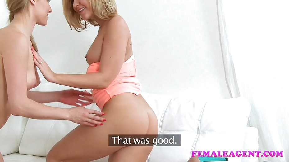 image Femaleagent sexy new blonde agent empties studs balls