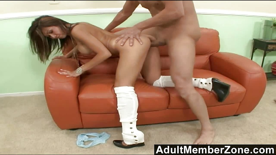 Adultmemberzone two tight hotties take on a big white dick 4