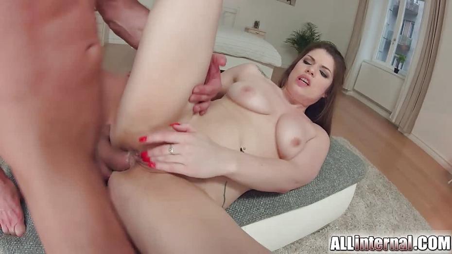 Allinternal brunette tastes her anal creampie 3