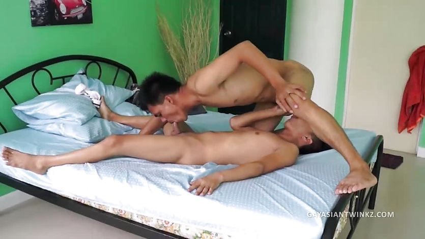 Asian Boys Gilbert and Argie Barebacking